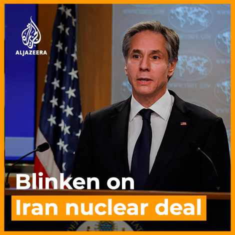 US Secretary of State Antony Blinken says the Biden administration is prepared to ease sanctions on Iran as long as Iran returns to full compliance with the 2015 nuclear deal. Read more: