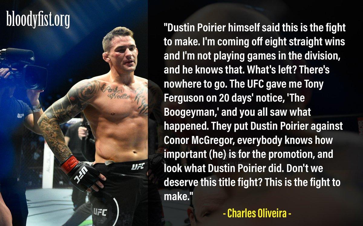 What is your opinion on @CharlesDoBronxs vs @DustinPoirier?  #dustinpoirier #ufc257 #charlesoliveira #ufcfightisland #hookervschandler #mma #UFC #boxing #bjj #muaythai #kickboxing #jiujitsu #martialarts #wrestling #grappling #fighter #training #mmafighter #charlesoliveira #nogi