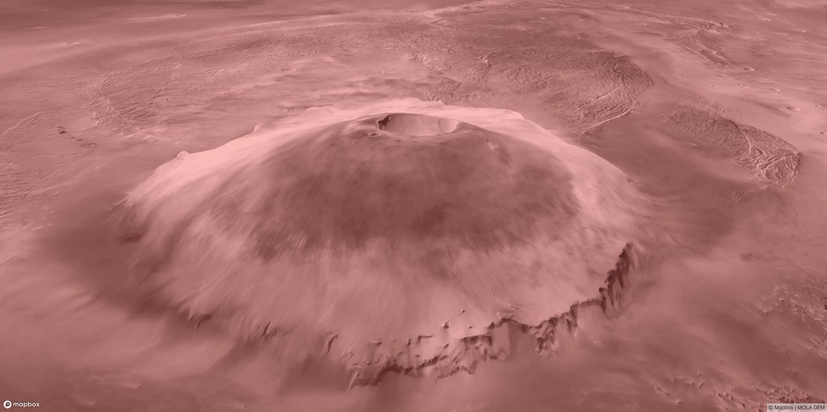 #Mars elevation + imagery in 3D with @Mapbox GL JS V2: