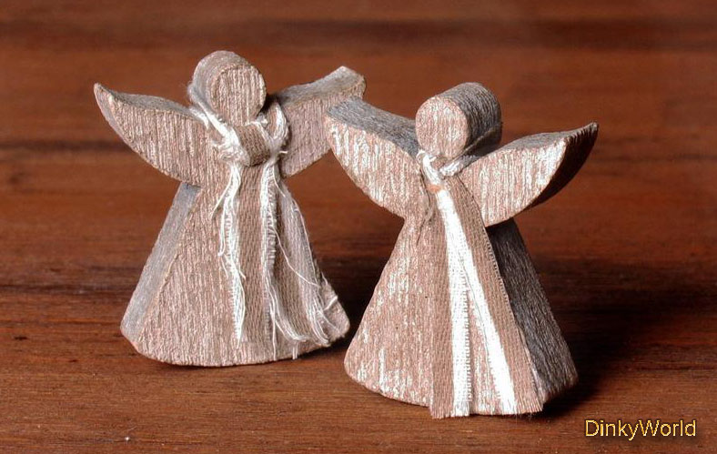 Rustical Miniature Wooden Angel for Your Dollhouse -  #christmas