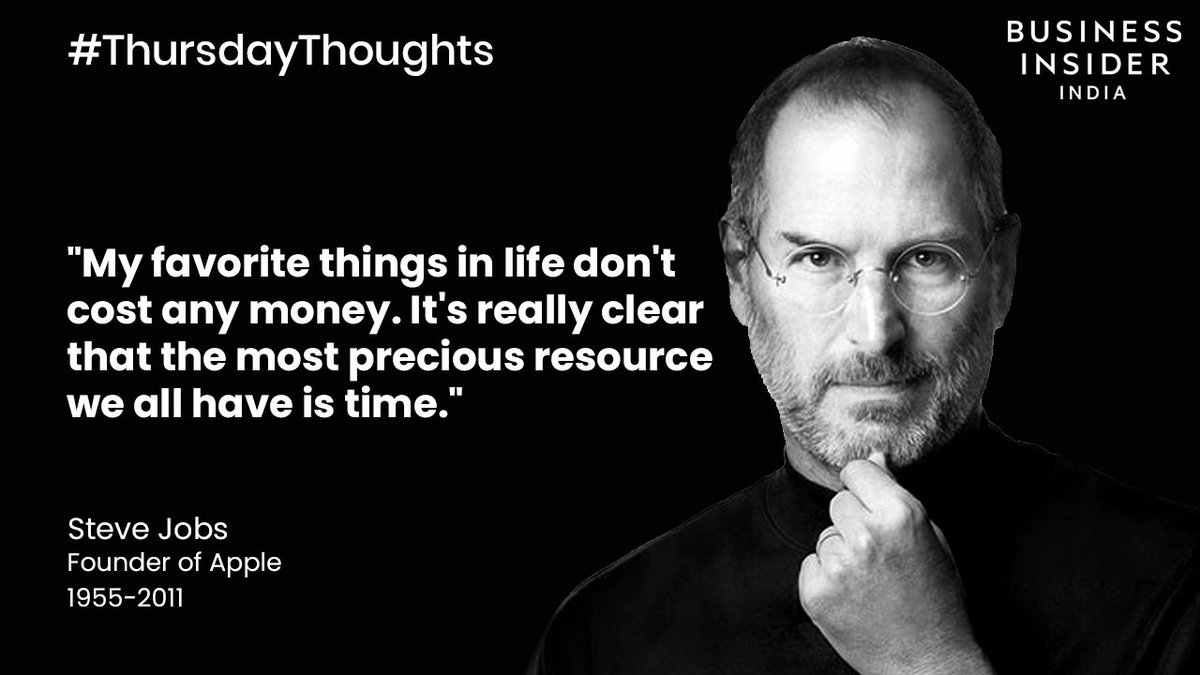#ThursdayThoughts: As #Apple becomes the most valuable brand in the world, it was the visionary Steve Jobs, who inspired the people around him to work harder and accomplish more than they imagined was possible. Here's a quote by him to push you towards success.     #SteveJobs