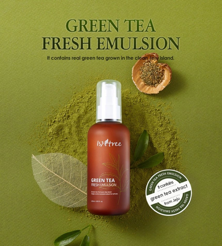 ISNTREE GREEN TEA FRESH EMULSION -120ml  Skin Type:Oily / Combination skin. PRICE: 9,500 NGN  To place an order, please send a DM / CALL or WhatsApp +2349048050200 Delivery is available Nationwide.  #greentea #moisturizer #oilyskincareroutine #combinationskin #antioxidants https://t.co/JrSY4XrfJs