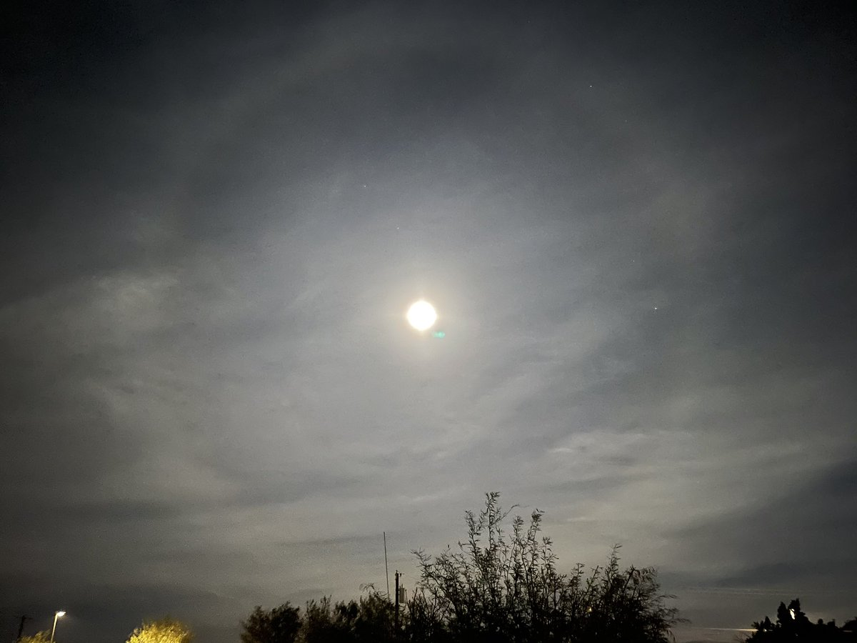 Moon over Yuma, AZ at 7:40pm. #moon #sky #UFO #HumpDay #astrology #night #Arizona #yuma #beautiful #home #lunar #Astrophotography #halo #space #NASA #astronaut