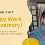 Image for the Tweet beginning: Congratulations, Amit! On your 'Work