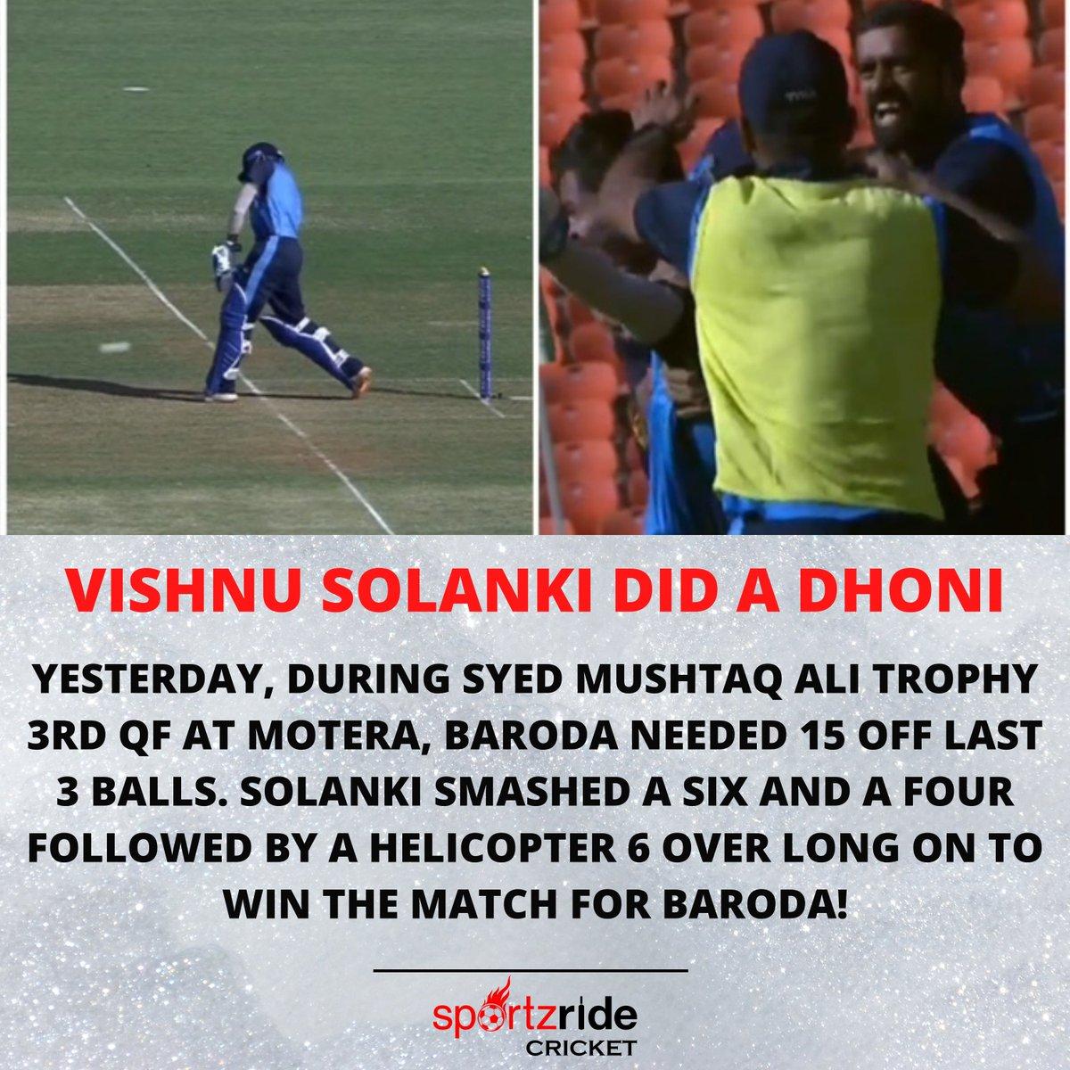 Vishnu Solanki's Heroics help Baroda seal a Semi Final Spot!  #SMAT2021 #smat #SyedMushtaqAliT20 #SyedMushtaqAliTrophy2021 #vishnusolanki #HARvBDA