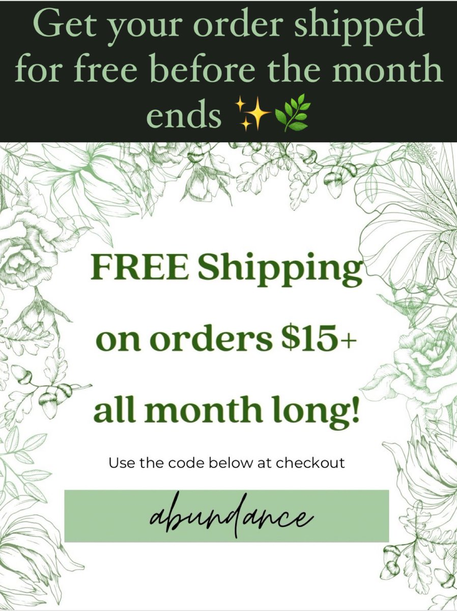 Catch free shipping while it lasts! Kick your 2021 off with holistic healing✨  🌿 organic original loose leaf tea blends 🌿 organic herbs, roots, flowers  🌿 tea accessories  #femaleowned #BlackOwned #flowers #free #herbs