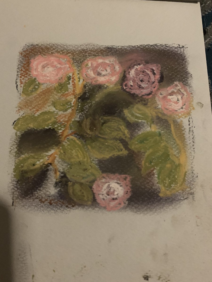 arrived v late to a class yesterday...  #pastel #pastels #softpastels #pastelpainting #softpastel #johnwilliamwaterhouse #thesouloftherose #redraw #rose #roses #flower #flowers #art