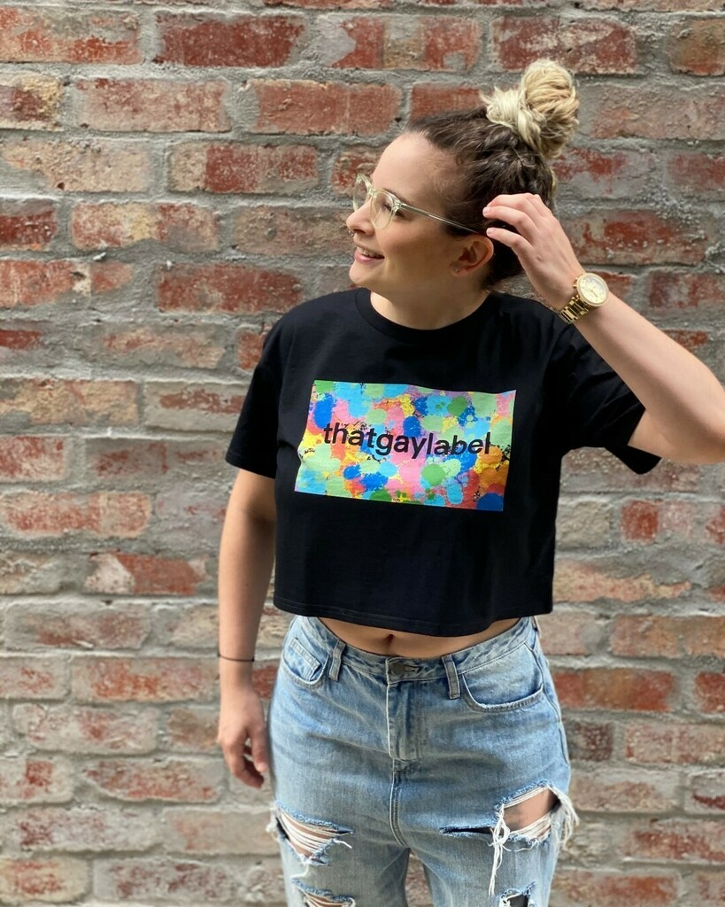 😍 Crop tops are perfect for this weather 🌞  Two designs now available on a crop - in black or white - tap product to shop now 👆🏻 . . . . . #summer #summerfit #summeroutfit #crop #croptop #tee #tshirt #streetwear #rainbow #thatgaylabel #ootd #outfitof…