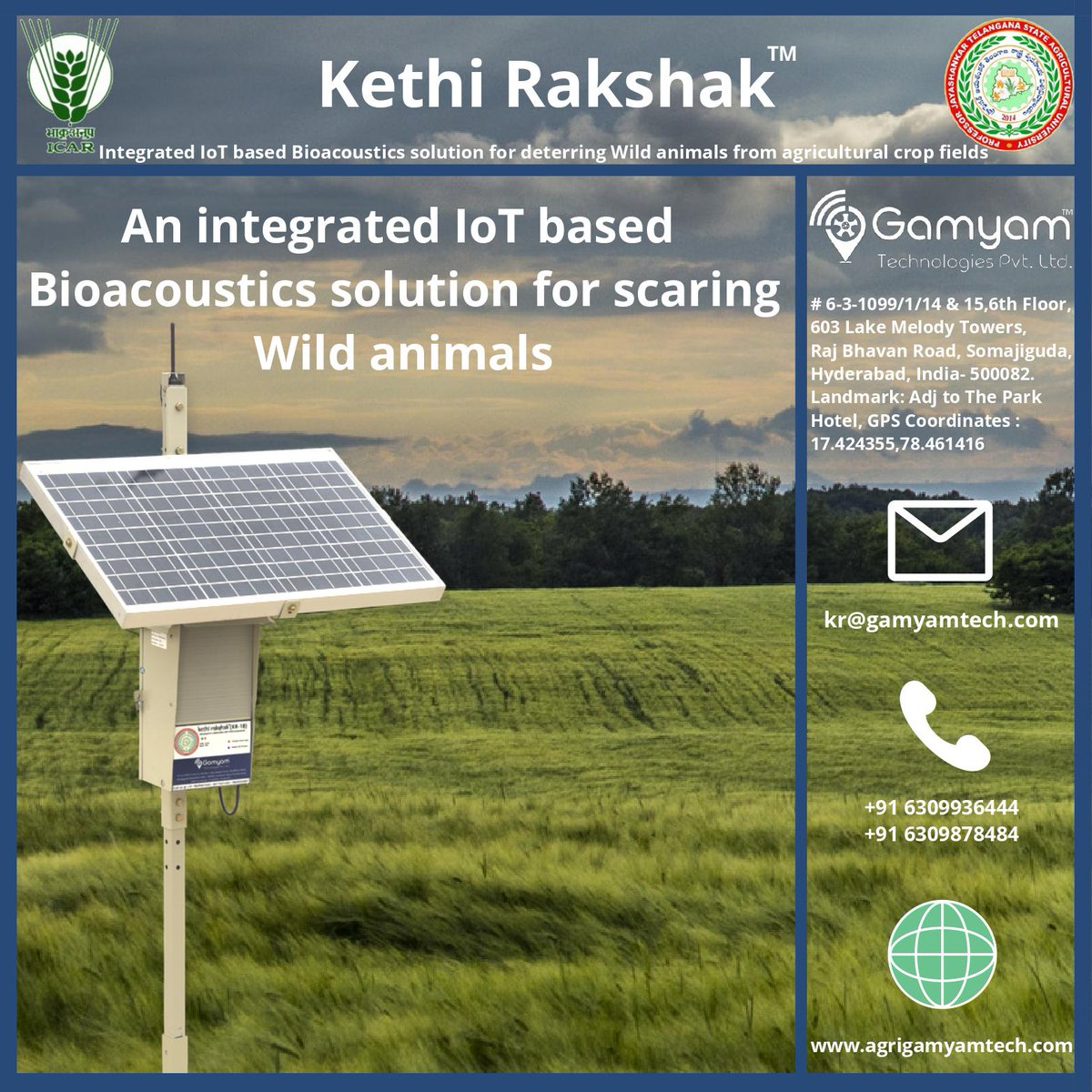 An integrated IoT based Bioacoustics solution for scaring Wild animals  #agrigamyamtech #agriculture #Agricultural #Farmers #farming #food #indianfarmers #agriculturetechnology #icar #pjtsau