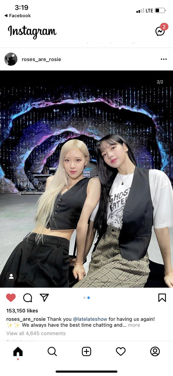 I GUESS ROSEANNE IS EMPHASIZING HER POST MORE WITH LISA BECAUSE OF WHAT TOXIC PEOPLE SAID TO LISA LMAO ITS FROM ROSÉ HERSELF SO STOP BOTHERING LISA.  PRETTY SAVAGE ON CORDEN  #BLACKPINKxCORDEN  #PURRR #BLACKPINK  @BLACKPINK