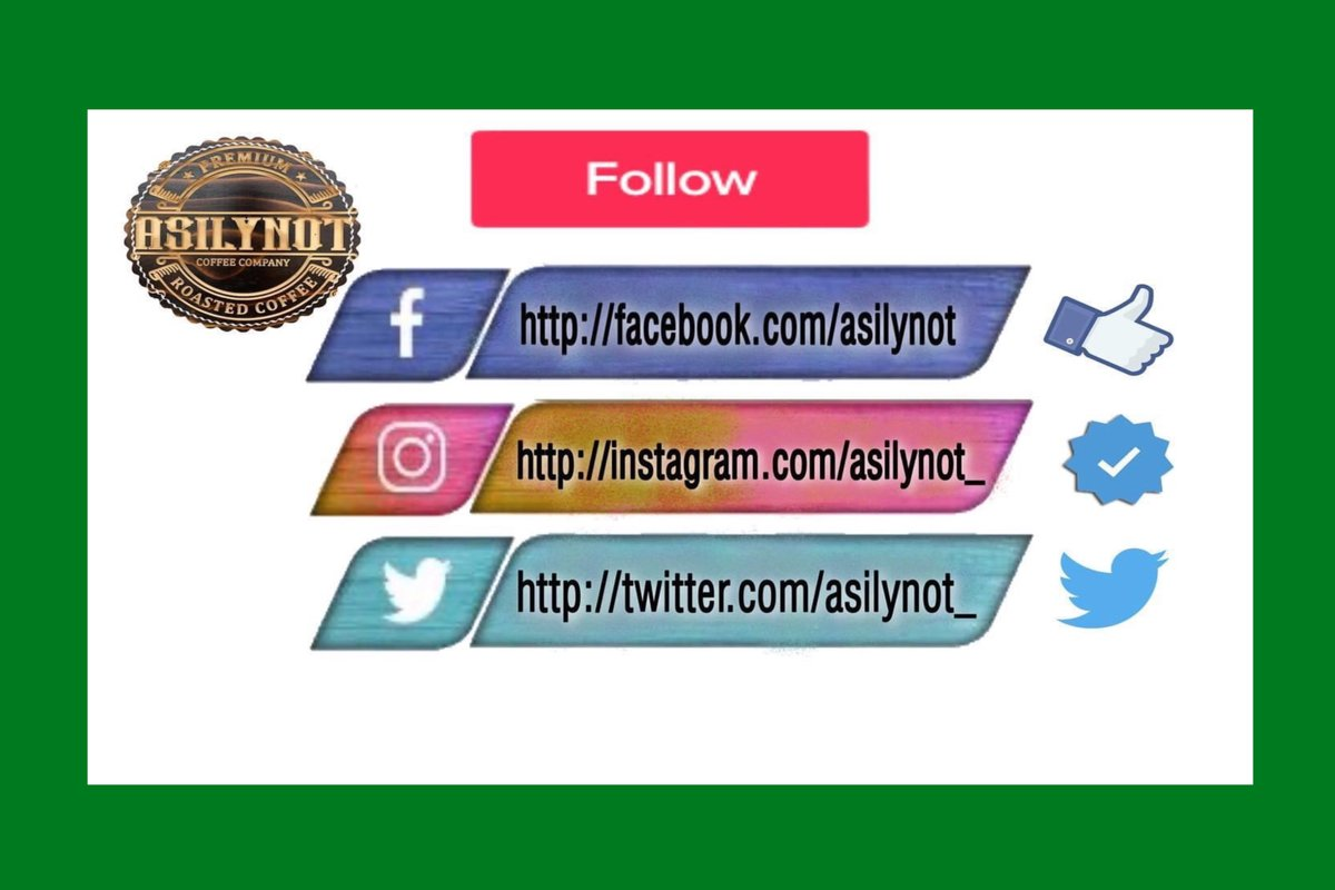 FOLLOW us Now ✨#Instagram ➡️  💥#Twitter ➡️  🔹 #Facebook ➡️   Tag Family & Friends in comments,tell them to follow us #Coffee #AsilynotCoffee #HouseBlend #FreshRoast #BubbleTea  #CoffeeAddict