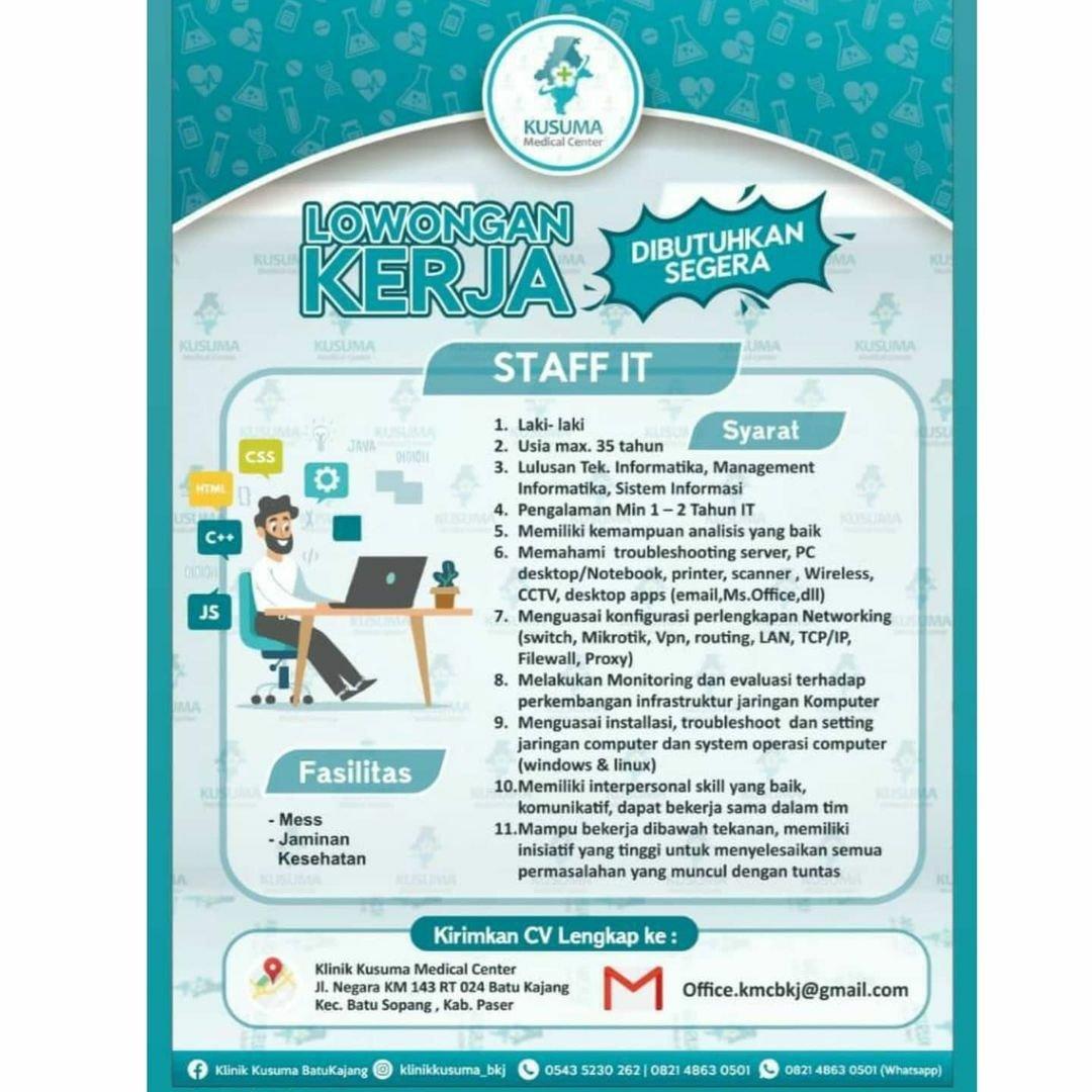 #Repost @bsikarir • • • • • • Hai Sobat Sukses BSI Career  Waktunya Get It your Career Nih sobat sukses.. Info Lowongan Pekerjaan dari KUSUMA MEDICAL CENTER  Bagi sobat yang berminat silahkan swipe dan memenuhi kualifikasi dapat segera ikuti tata cara