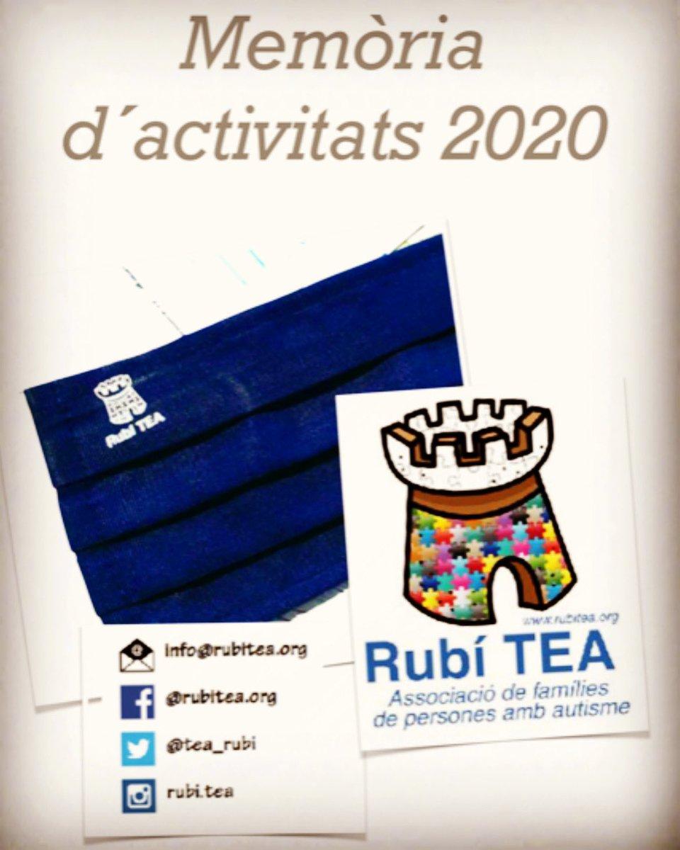 Famílies #rubitea Ja teniu la memòria 2020 al vostre correu. #autisme #autismo #rubicity #TEA