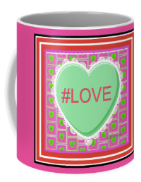 Valentine gifts for your SweetHeart. #Love Coffee Mug from The HeartSome Sentiments Master Peace Collection. Shop at Kaitha Het Heru Studio Fine Art Print Gift Shop..  -