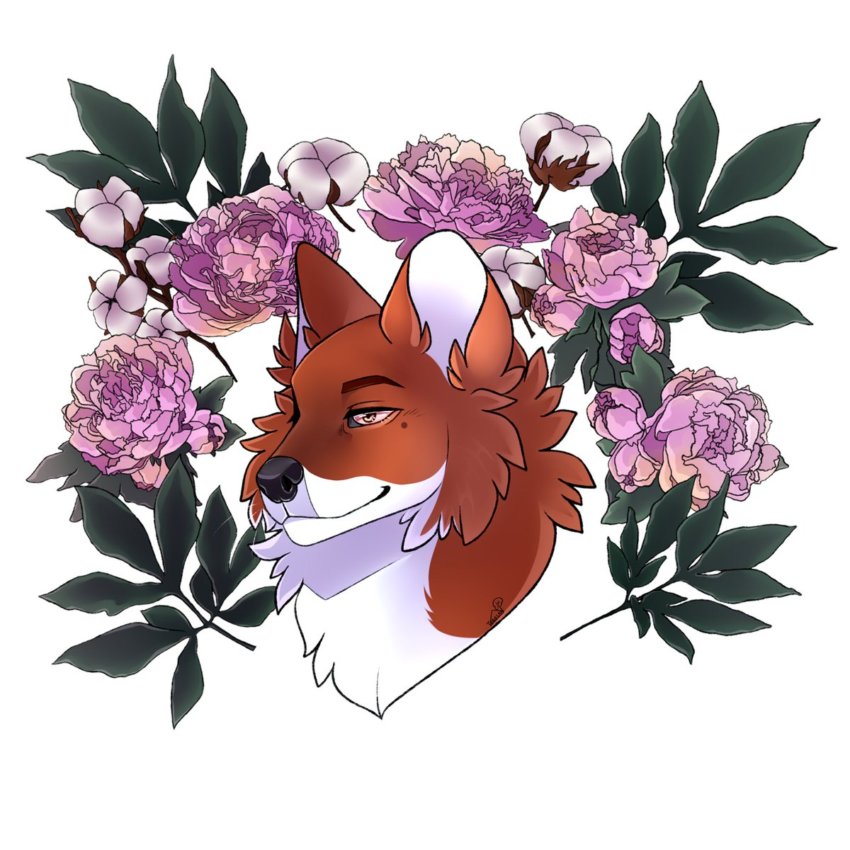"""Winter is at its peak. Don't hide your furry pride.  Wear a furry hoodie and show your pride. I know only furry will wear """"Dhole and flowers"""" Hoodie.  Shop:   #furryartwork #LGBTQIA2021 #LGBTQ #Flowers #furryflower #furryartwork #furryartist #hoodie #winter"""