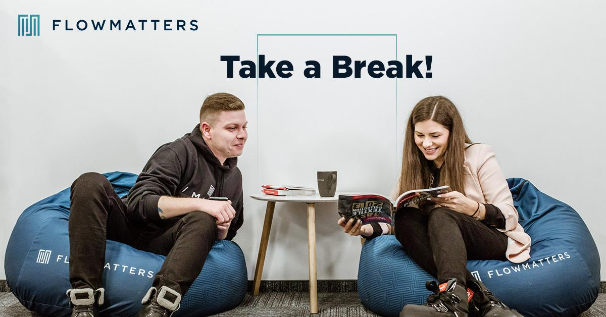 Taking a break from time to time and chill is just as important as working hard & being passionate. Avoid burnouts🤯 with well-earned breaks and socialize with your teammates or read something interesting. Either way, just take a break!✌#ThursdayThoughts