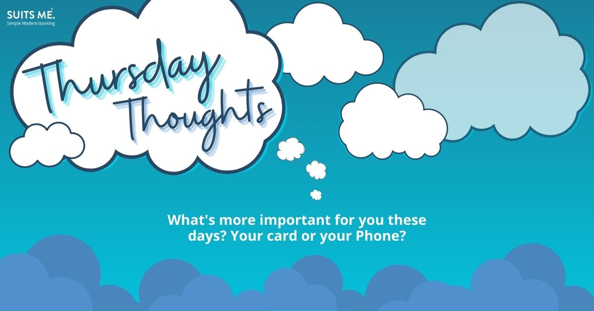 Thursday Thoughts💭  What's more important for you these days? Your card or your Phone?  #ThursdayThoughts