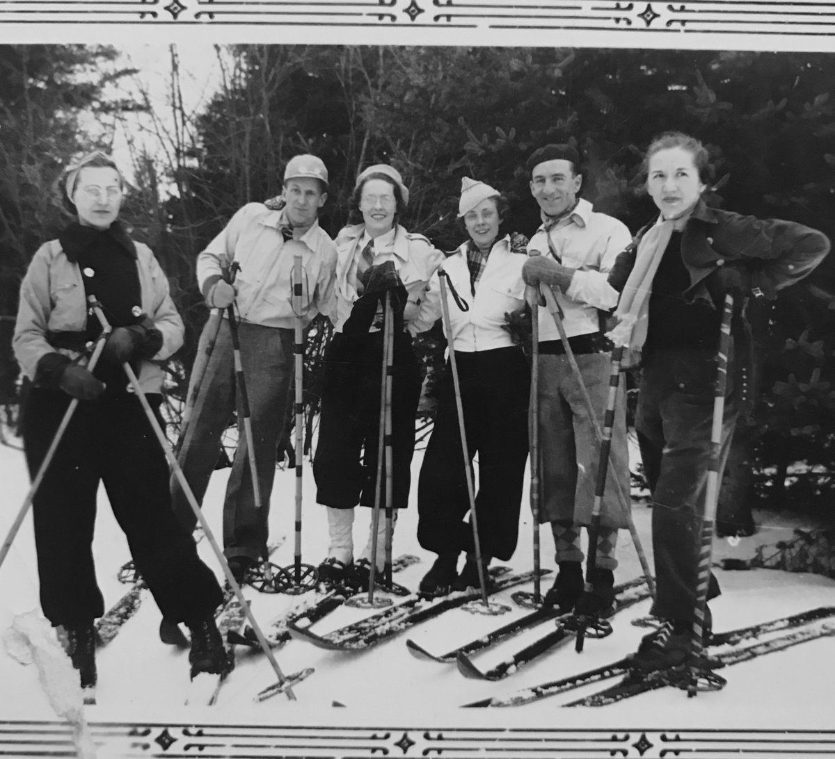 'Skiing in the Laurentians circa 1930's' #skiing #fashion #blackandwhite #blackandwhitephotography #blackandwhitephotos #photo #Photos #photographers #photography #photographylovers