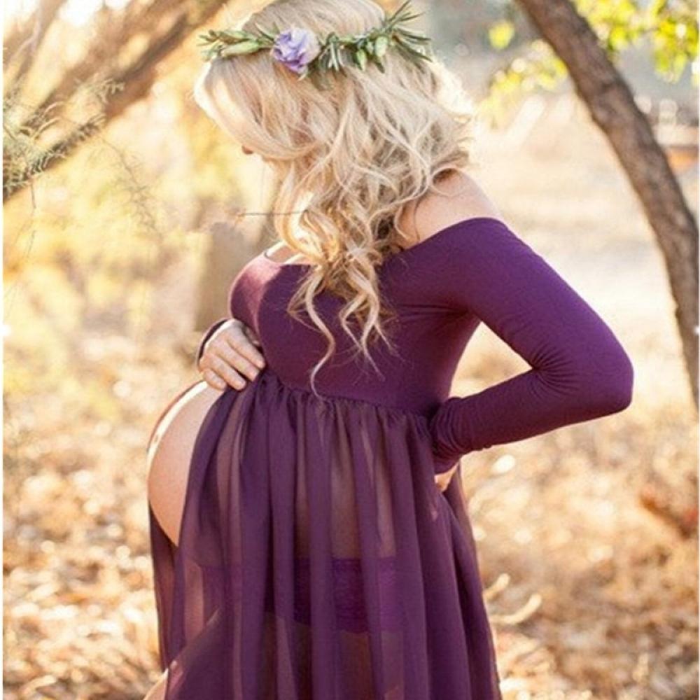 #familytime #mother Women's Transparent Maternity Maxi Dress