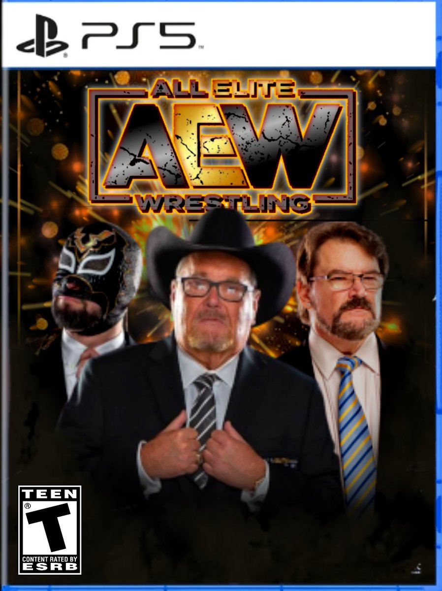 Cause commentators deserve the cover sometimes as well... I got y'all covered! I got this custom @AEWGames cover feat. @JRsBBQ @tonyschiavone24 and @ShutUpExcalibur. #WrestlingCommunity #AEWFam #AEW #wrestling #WrestlingTwitter