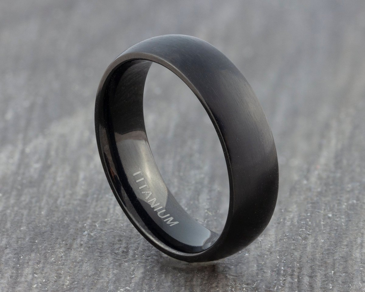 Excited to share the latest addition to my #etsy shop: 6mm Black Titanium Wedding Ring - Womens Black Titanium Band - Mens Court Fit Wedding Band - Engagement Ring - Promise Ring - Sizes M to X  #wedding #no #women #titanium #black #weddingband #