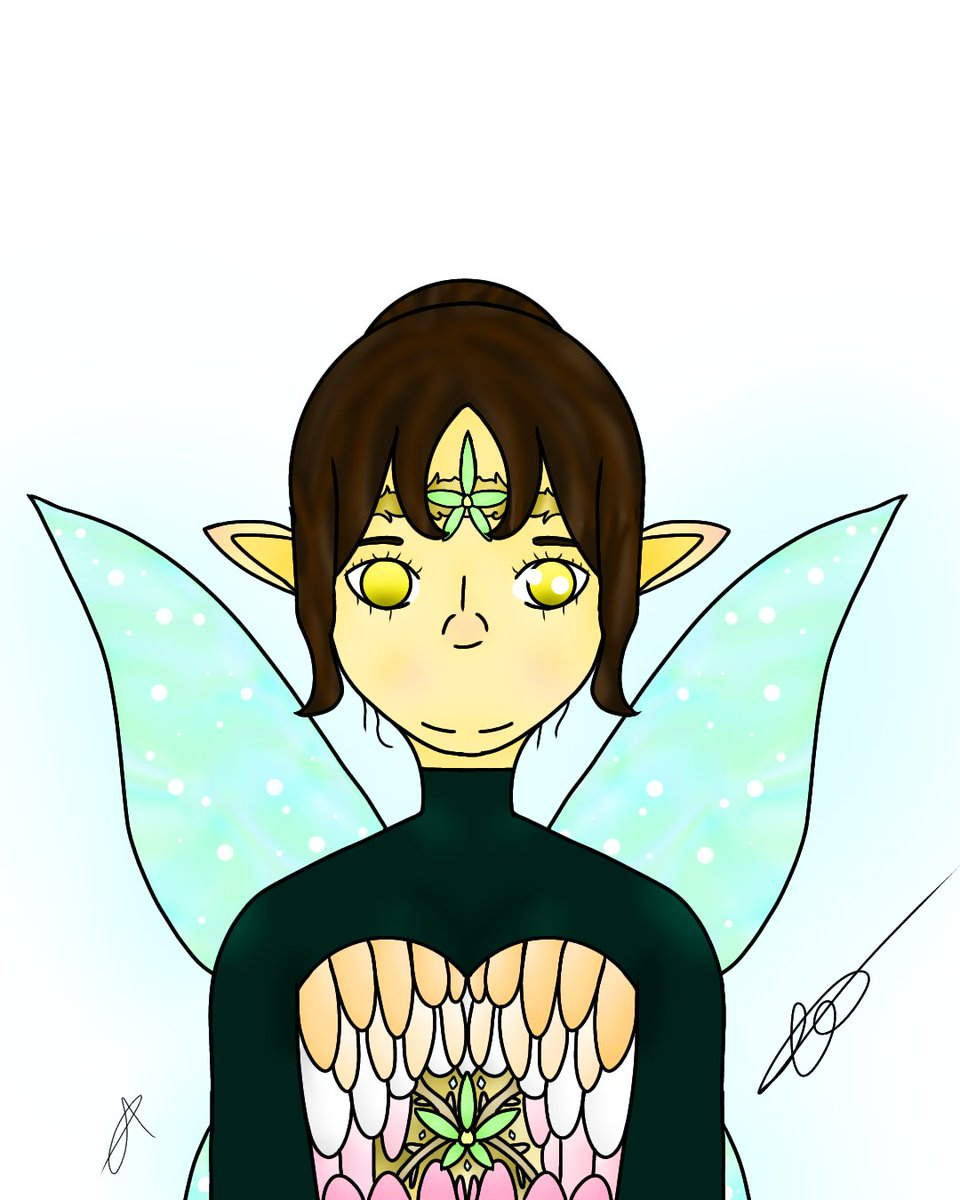 Some art I did after me and my friend coversed on what I would be as a fantasy person. All colouring credits and shading go to my friend Teeth!  #fantasy #Fantasyart #drawing #digitaldrawing