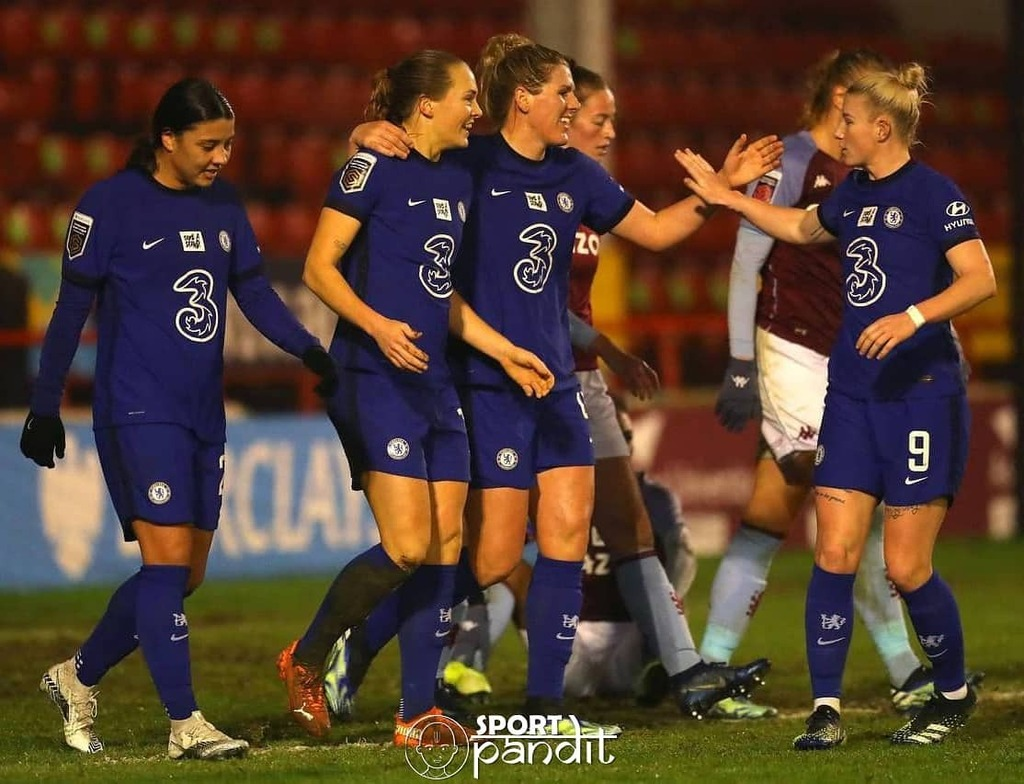 Chelsea Women are unbeaten in 32 league games after beating Aston Villa 4-0 tonight 🔥  A new WSL record 👏  #uefa #football #championsleague #soccer #amsterdam #ajax #netherlands #fifa #ucl #futbol #adidas #voetbal #worldcup #uefachampionsleague
