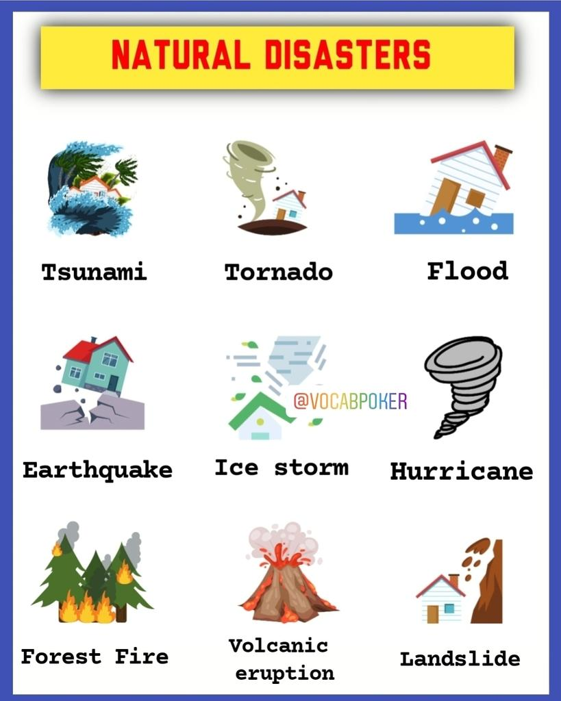 Natural Disasters  #vocabpoker   #naturaldisaster #pronunciation  #disastermanagement #nature #inglesonline #inglesfluente #inglesbasico  #englishforkids #englishforadults #english4us