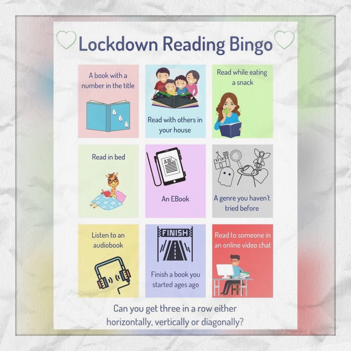 📚📢 🎟 B•I•N•G•O 🎟📢📚  Who will be the first to make a line of 3? Login to @epic4kids using your class code or select books from your own collection. Take a 📷 of your participation and upload it to @Seesaw.    #Love2read #ReadingBingo #Bookworm