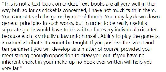 Australia's greatest all-round cricketer (arguably, of course) wrote this 75 years before Virender Sehwag made his Test debut.  Monty Noble was born #OnThisDay in 1873.