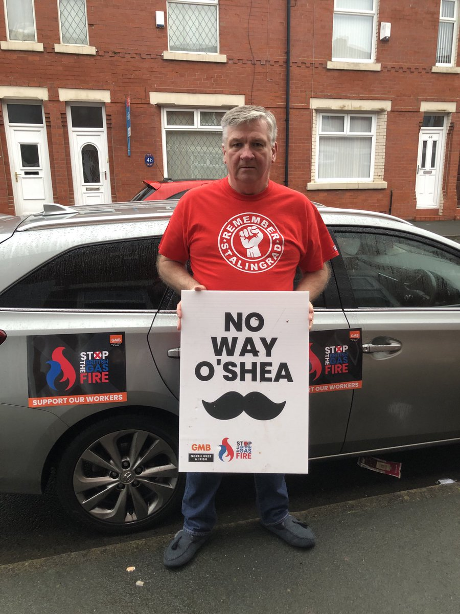 #stopthebritishgasfire. Time to go O' Shea ! @gmbnwi @GMBCouncillors @claytongirl1 @ClaytonOpenshaw @Georgie_Patto @PaulMaccaGMB @WKennyGMB @GMBGarySmith @bplantgmb https://t.co/rf669xILVl