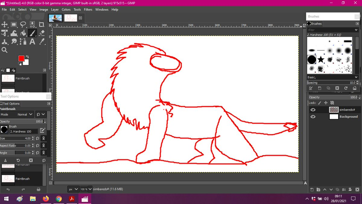Doing some #TheLionKing fan art <3 This is one of my favorite poses to draw of Simba <3