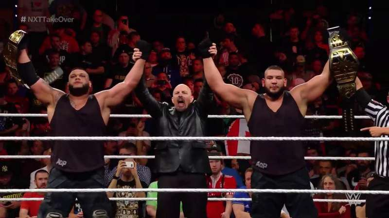 On this day in 2017, The Authors of Pain(Akam and Rezar) won the NXT Tag Team Championship at NXT TakeOver: San Antonio #WWE #WWENXT #NXT #NXTakeOver #NXTTagTeamTitles