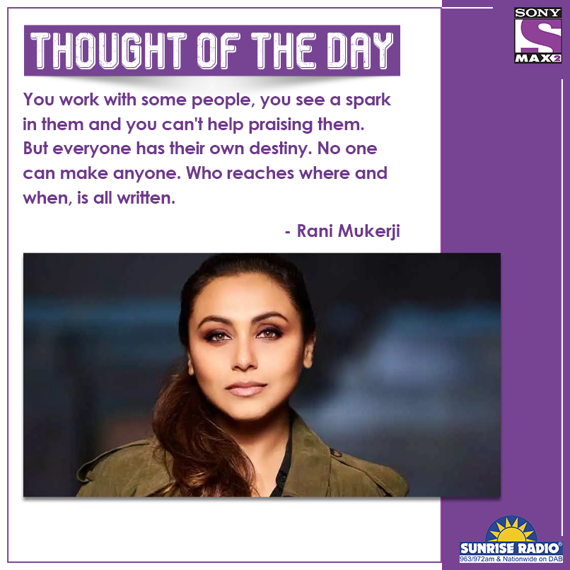 Hard work is the key to having a spark in everything that you do.  #RaniMukerji   #ThoughtOfTheday #quote #qotd #MAX2UK #ClassicBollywoodMovies #ThursdayMotivation #motivation #risk #ThursdayThoughts   @thisissunrise