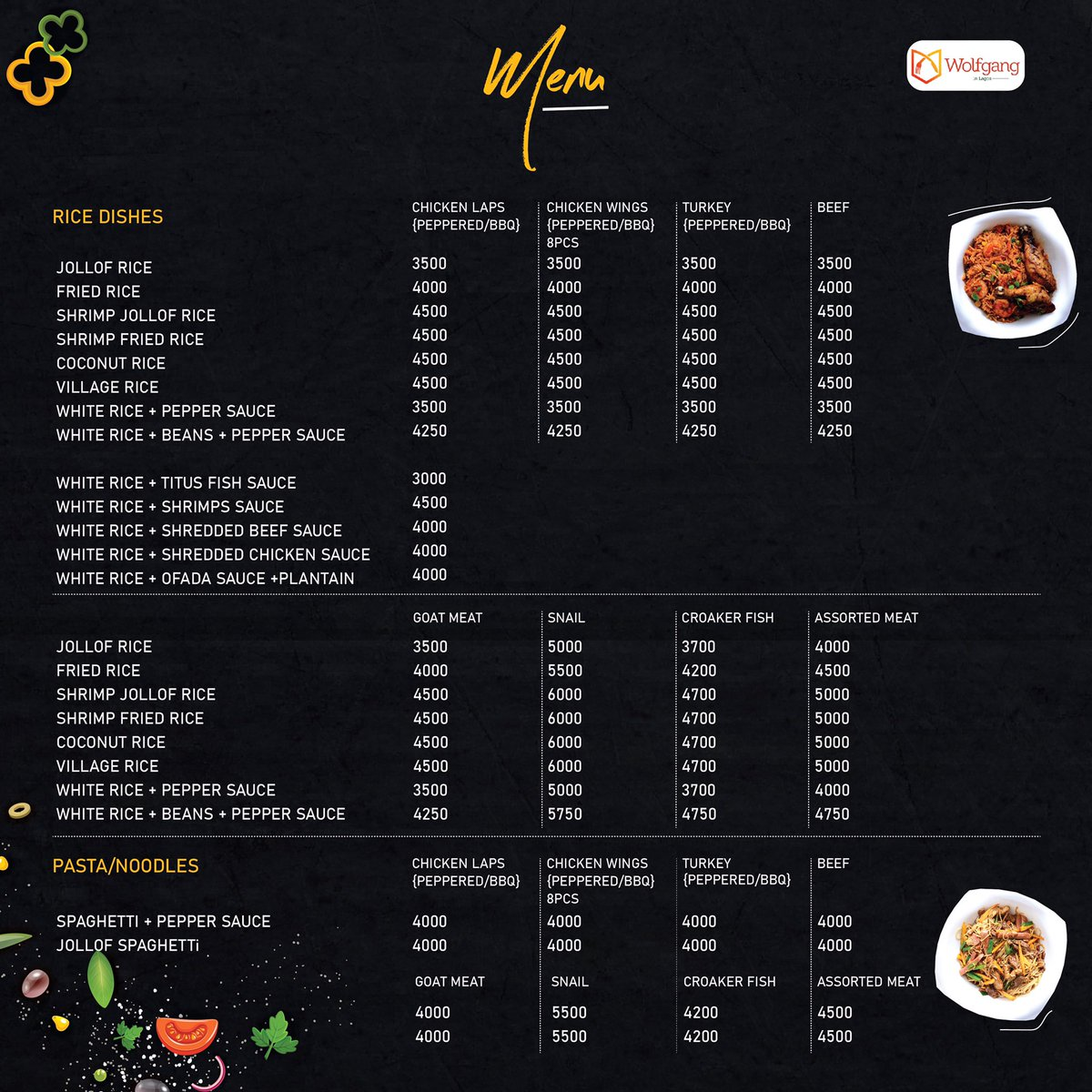 Home is where our meals are 🏠 ❤️ we have different dishes to fill you, swipe through our menu and send us a DM or call or 08171111149.  We take orders from 1pm-6am every day.   We deliver within Lagos Island  For orders ring us at 08142593170 for orders.  #silhouettechallenge