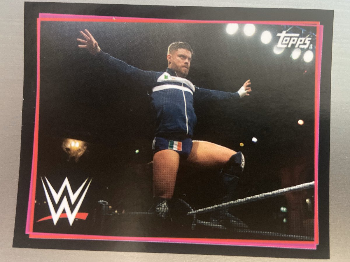 A few of us doing our 1st Sticker album in many years as under Lockdown and I've only gone and got the Ace of Stickers @Jordan_Devlin1 In today's pack   #NXTUK #WWE #NXT
