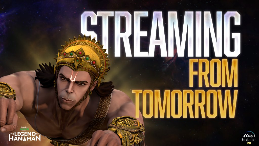 The tale of a mighty warrior. Hotstar Specials #TheLegendOfHanuman streaming from tomorrow!