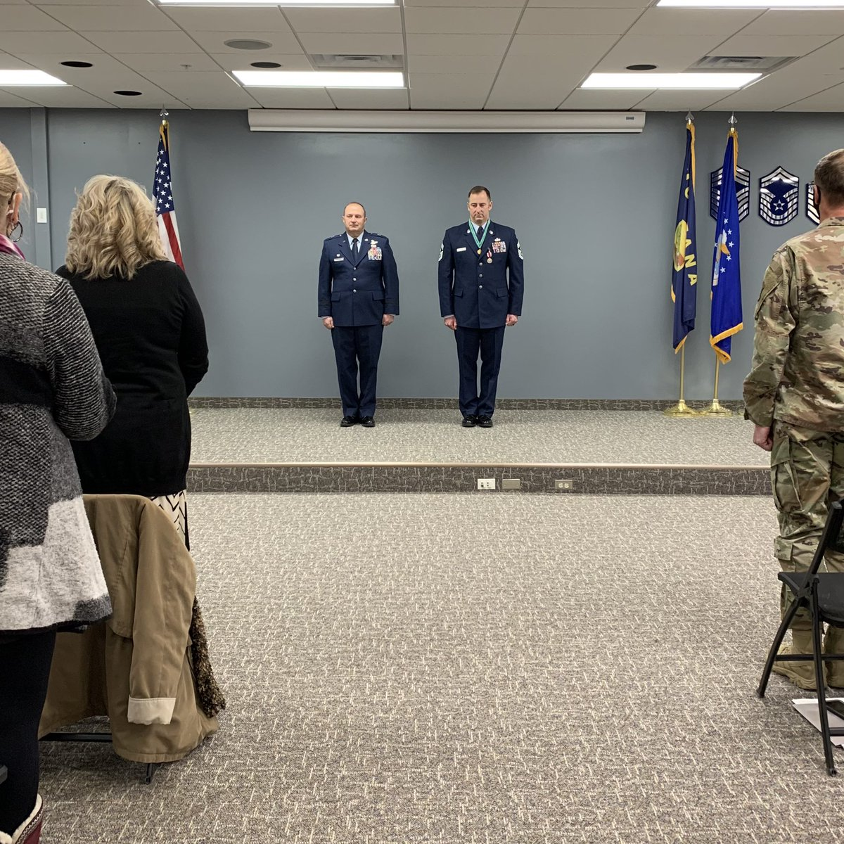 Montana's State Command Chief Master Sgt. Doug Otto retired over February drill weekend after 30 years of service to the Air Force. His loved ones and friends gathered to present him with gifts commemorating his service to country and state. Thank you for your service!