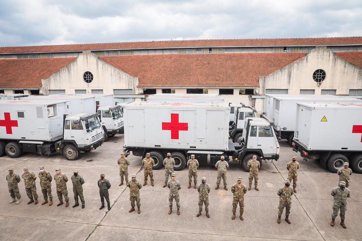 """Ministerio Defensa on Twitter: """"Sumamos un nuevo Hospital Móvil para la  asistencia sanitaria que emprende el personal militar en situaciones de  emergencia. Los nuevos módulos donados por la República Popular China se"""