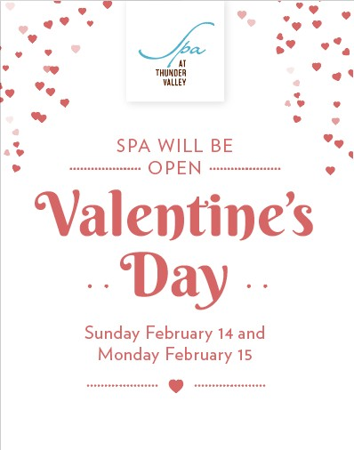 ❤️  Roses are red. Violets are blue. Book a Spa day for your plus-one and you! ❤️  For more information, please call Spa at Thunder Valley at 916-408-9250.