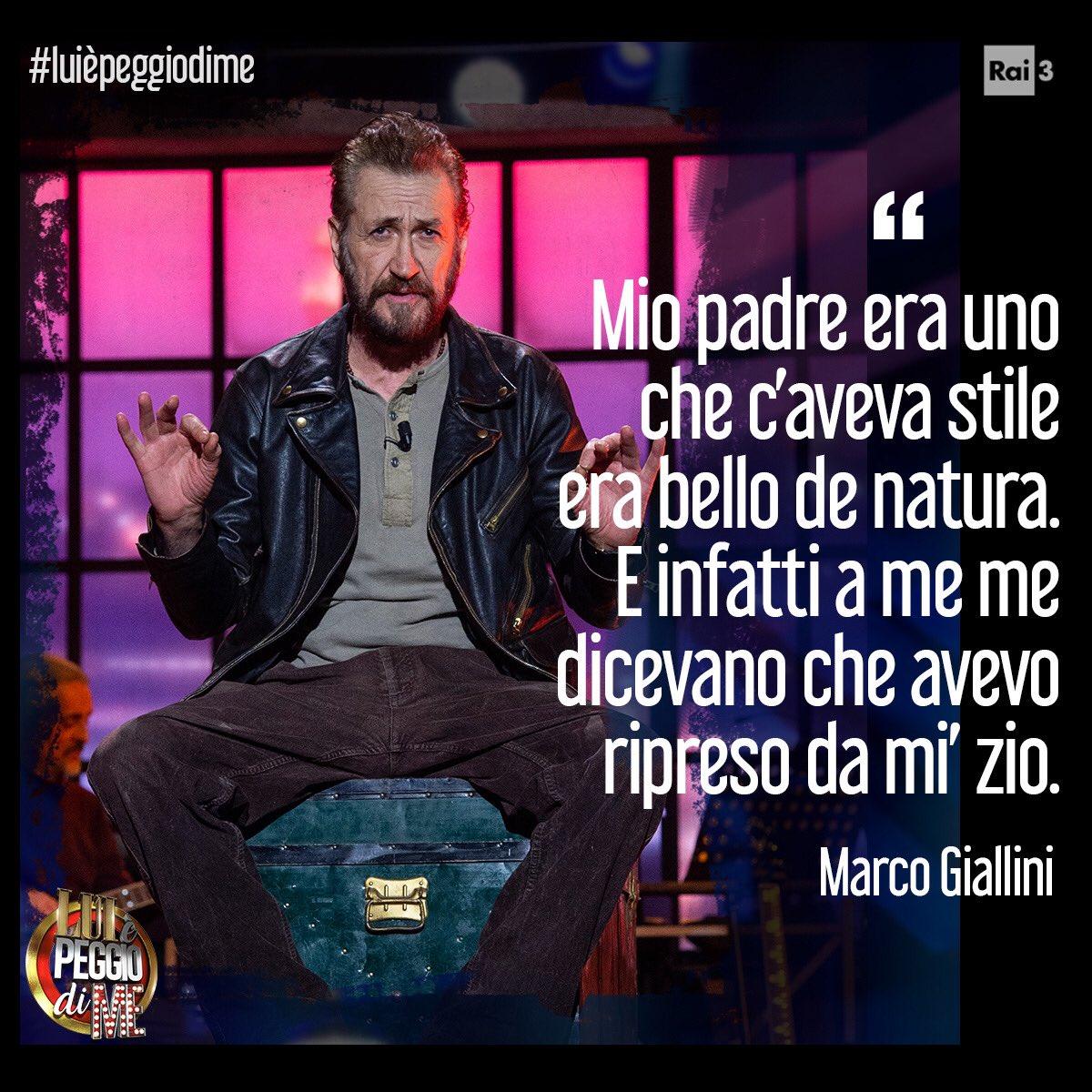 """RT @RaiTre: """"Sono sempre stato un ribelle.""""  @marcogiallini #LuiÈPeggioDiMe https://t.co/qTGRcERnFH"""