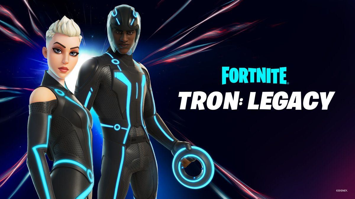 Welcome to the Grid.  Gear up as Grid Warriors and fight for the users! Tron Outfits are in the Shop now.  More info: https://t.co/brB6ItQaeH https://t.co/XwXFIbh0Il