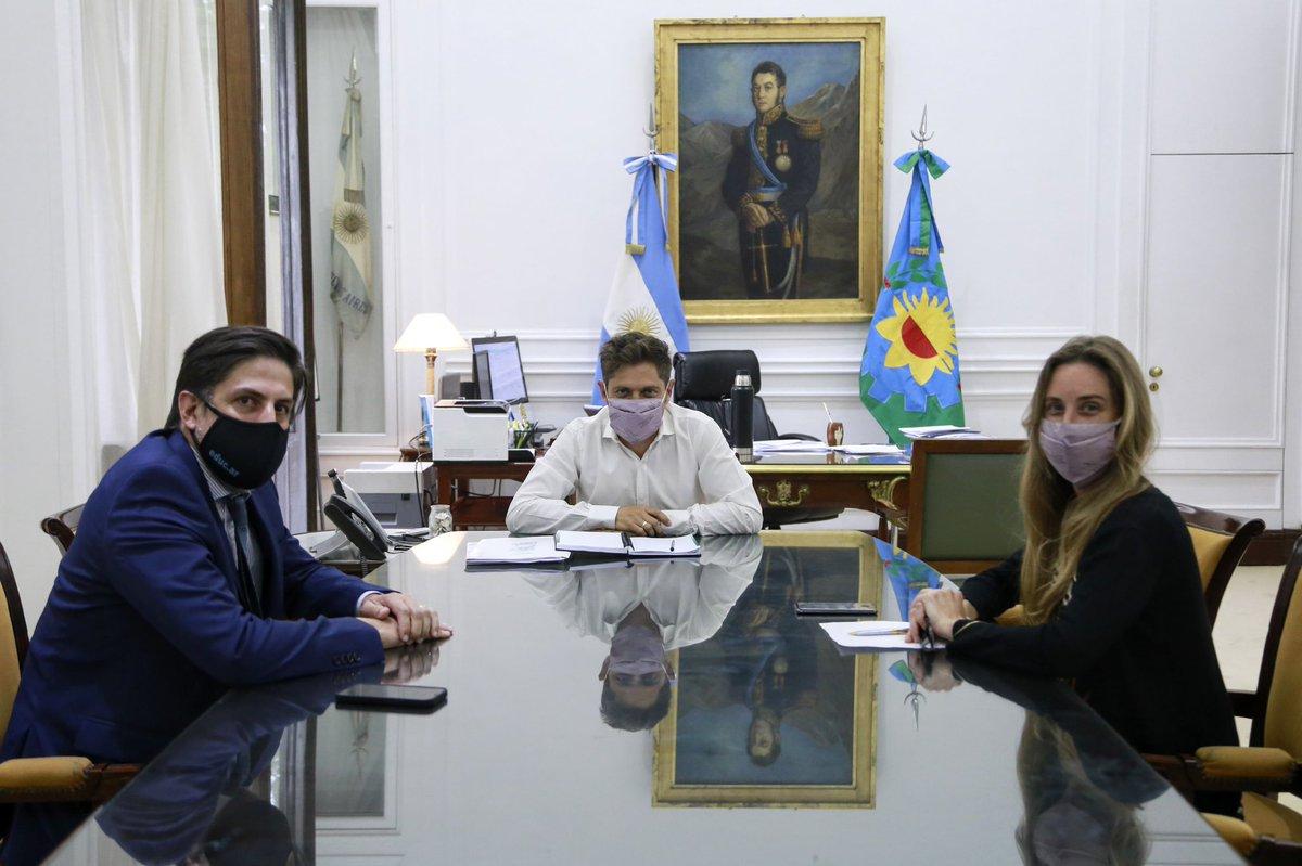 """Axel Kicillof on Twitter: """"Junto a la directora de @BAeducacion , Agustina  Vila, mantuvimos una reunión con el ministro @trottanico. En la continuidad  del trabajo conjunto con el gobierno nacional, avanzamos en"""