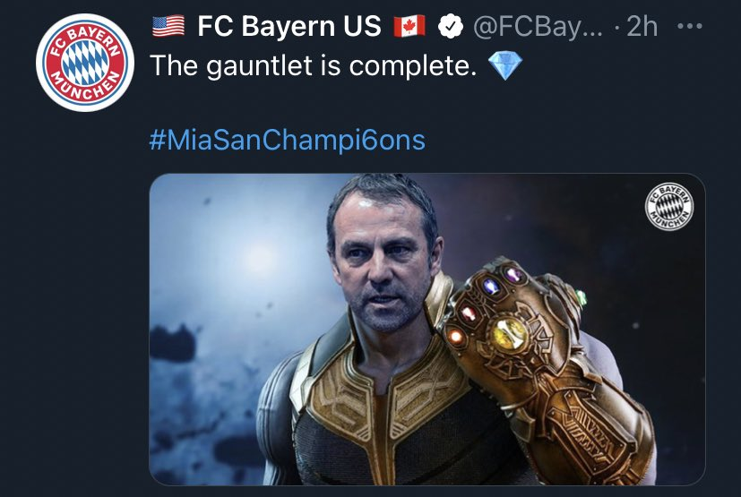 You know we had to have a little fun today! 🏆 #MiaSanChampi6ns