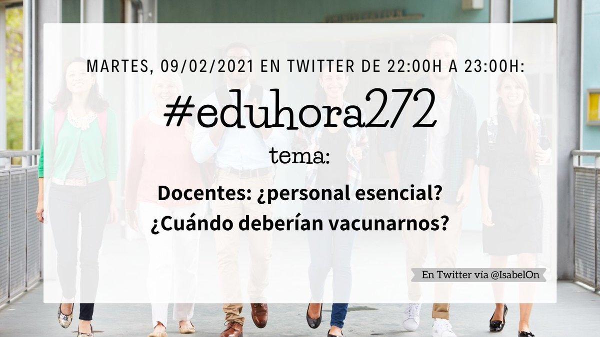 Muy buenas noches #eduamig@s de la #eduhora272, hoy llegó para deciros casi adiós! 🧑🏻💻