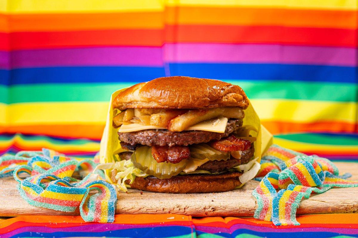 GAY BURGER NOW AVAILABLE IN LA, SF & NYC on DoorDash, Postmates, GrubHub. @GayBurgerCo 😭🌈🍔