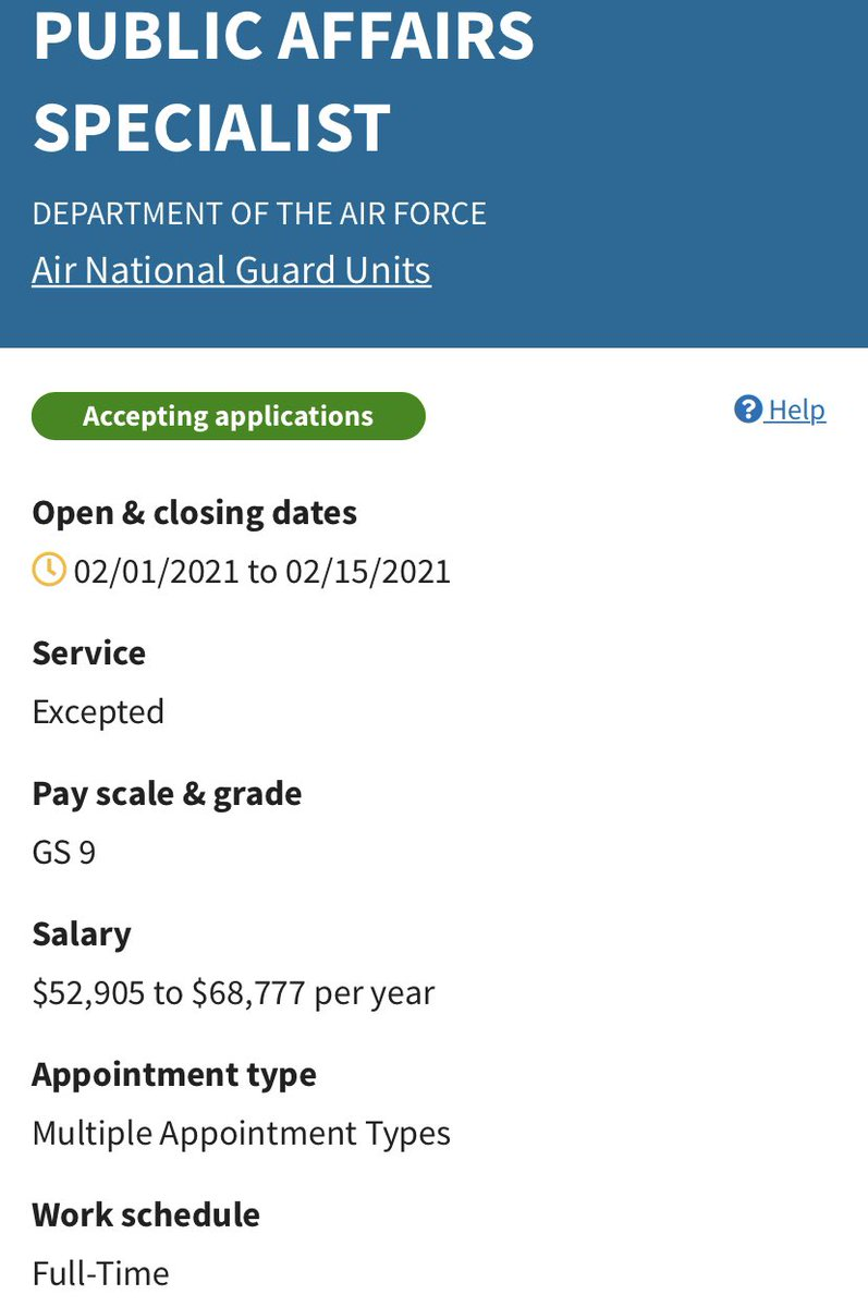 The Montana Air National Guard is looking for two public affairs specialists to work with their recruiting team in Great Falls. Join the Montana National Guard as a civilian employee. Apply at: