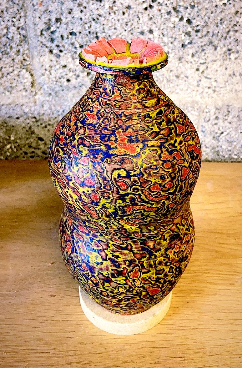 I made this vase: