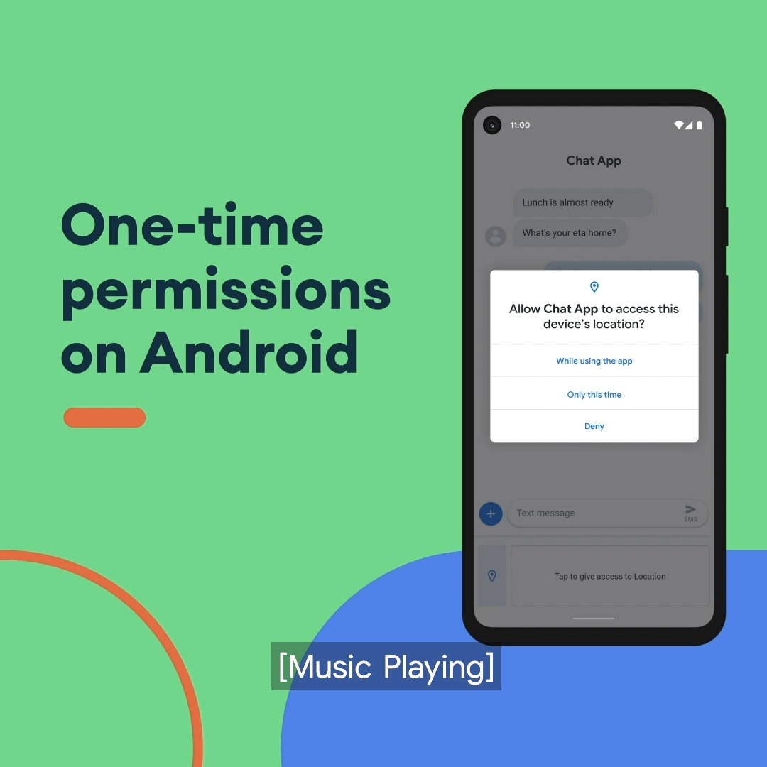 One-time permissions on #Android let you decide if you want to share access to your microphone, camera or location for that one time. Hear more from Android's privacy product manager Charmaine D'Silva. #SaferInternetDay