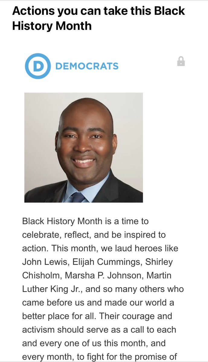 "Celebrating Black History Month intentionally this year with some inspiring words from @harrisonjaime and some anti-racism actions.   My favorite line?  ""While I breathe, I hope."""